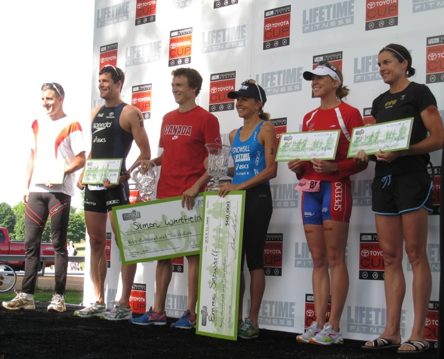 life time triathlpon podium