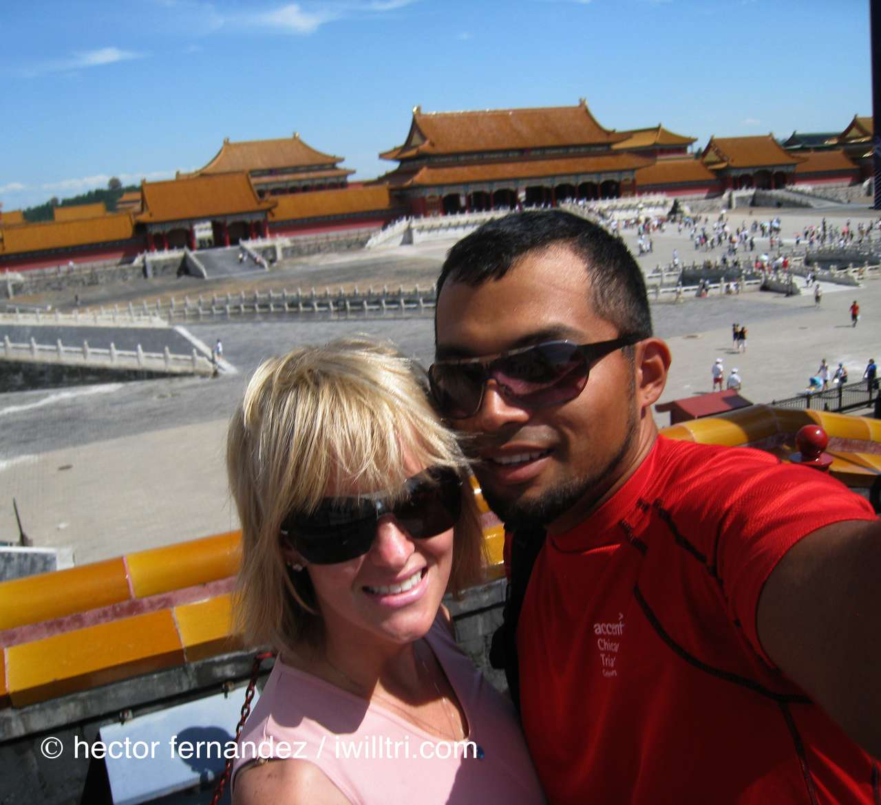 Hec and Chelle at Forbidden City for Beijing Olympics